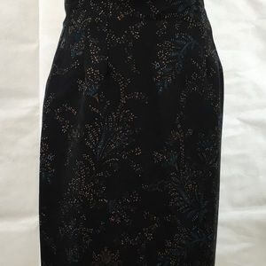 🔥5 for 15 Briggs New York Maxi Skirt Black floral